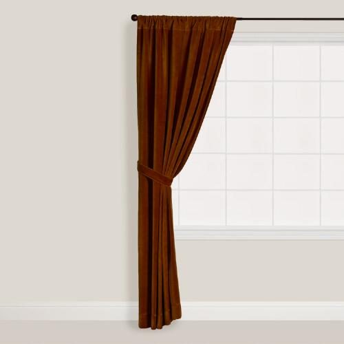 Mocha Bisque Velvet Curtain