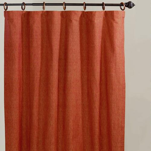 Jaya Turmeric Melange Canvas Curtains, Set of 2
