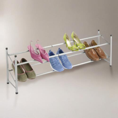 Stackable Telescoping Shoe Rack, Set of 2