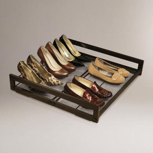 Under-Bed Sliding Shoe Rack