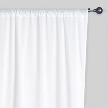 White Cotton Voile Curtain