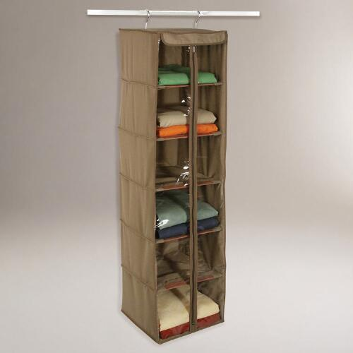 Cedar & Canvas Shelf Organizer