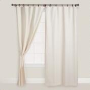 Natural Jaya Canvas Curtain