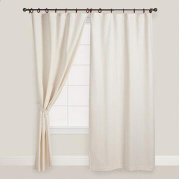 Natural Jaya Canvas Ring Top Curtain
