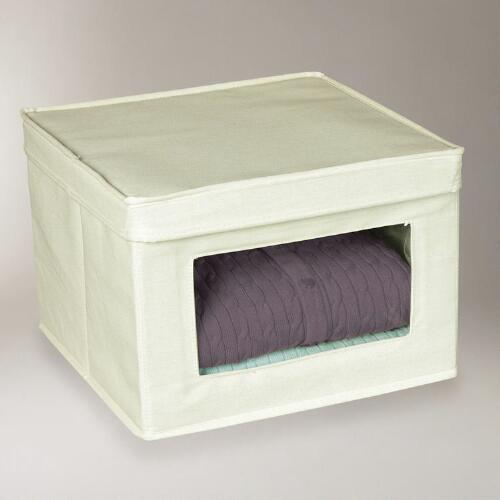 Medium Natural Canvas Storage Box
