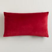 Red Velvet Lumbar Pillow