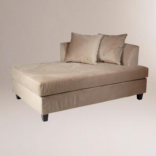 Coffee Velvet Taylor Chaise