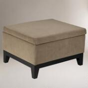 Mia Storage Ottoman Brownstone