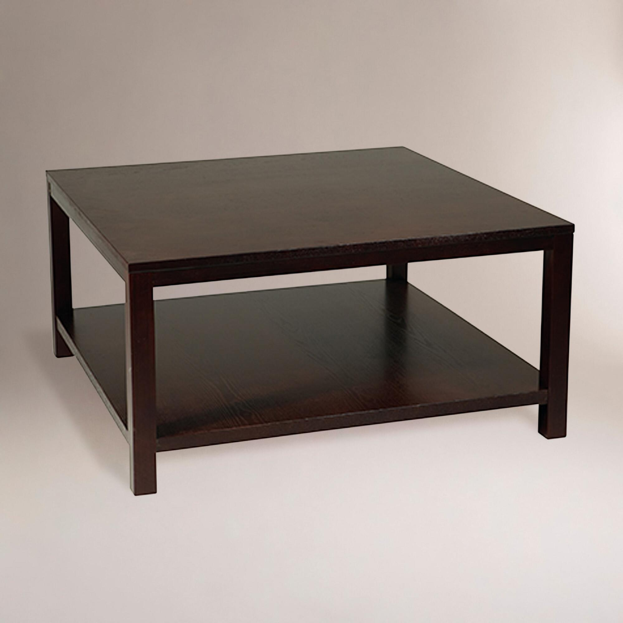Square porter coffee table world market Espresso coffee table