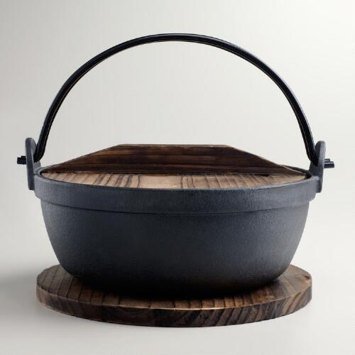 Udon Bowl and Wooden Trivet