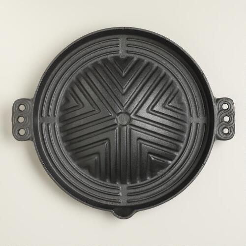 Cast Iron Korean BBQ Plate