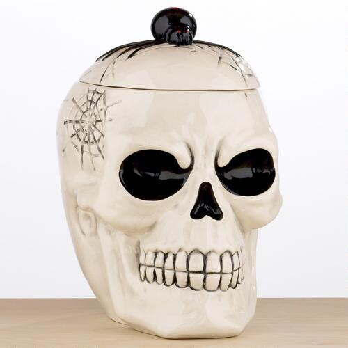 Halloween Skull Cookie Jar