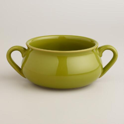 Chive Double-Handled Soup Crock, Set of 4