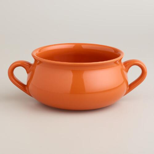 Persimmon Double-Handled Soup Crock, Set of 4