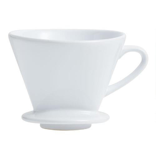 White Euro Ceramic Drip Coffee Filter