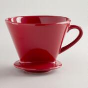 Red Euro Ceramic Drip Coffee Filter