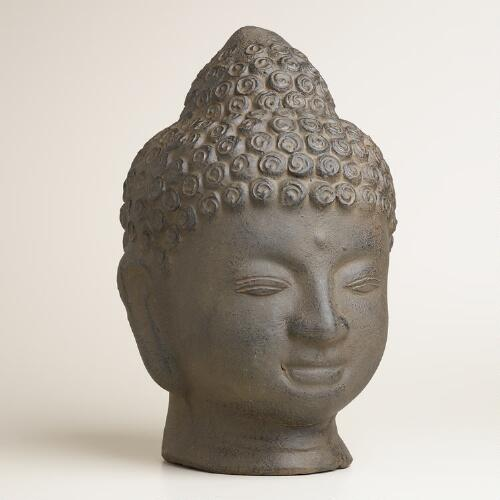 Terracotta Buddha Head