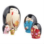 Nested Kokeshi Dolls, Set of 5