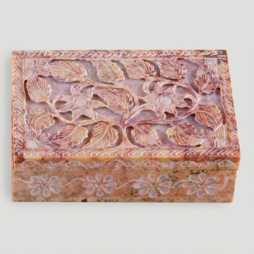 Carved Soapstone Box