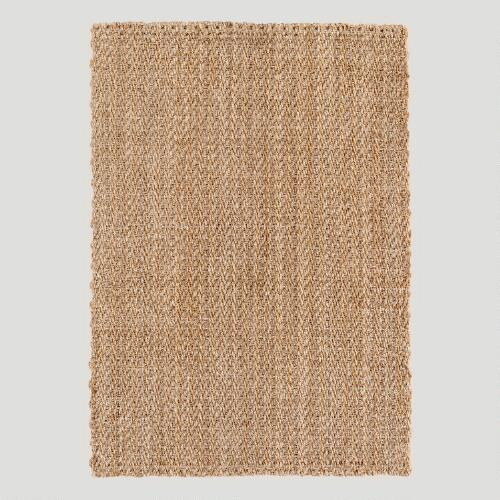 Natural Gray Chunky Jute Rug