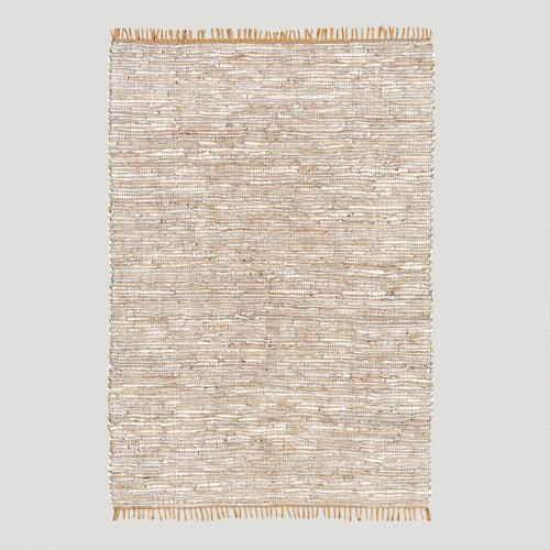 Reclaimed Leather & Jute Rug