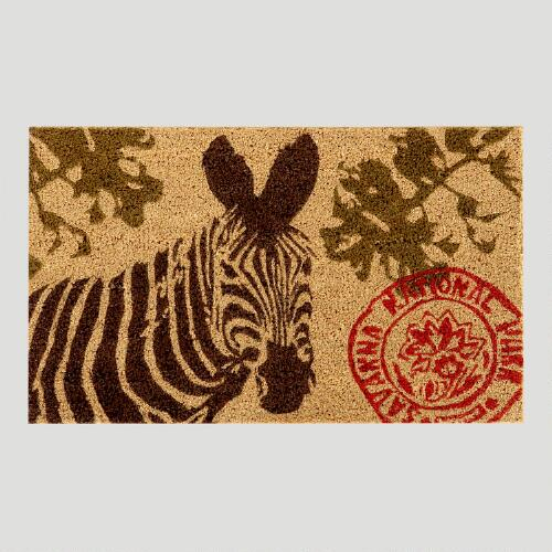 Natural Zebra Doormat
