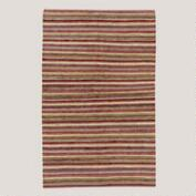 Plum Stripe Napa Chindi Rug