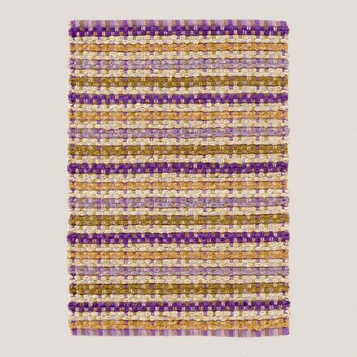Purple Stripes Jute Rug