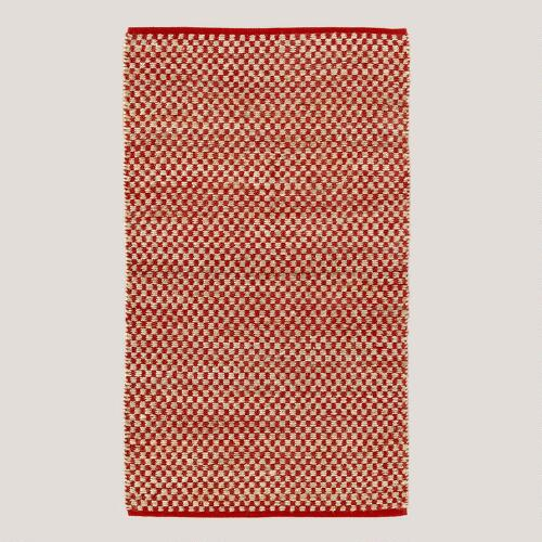 Red Checkered Rug