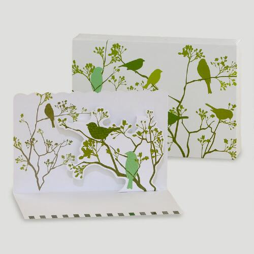 Birds Pop-Up Note Cards, Set of 8