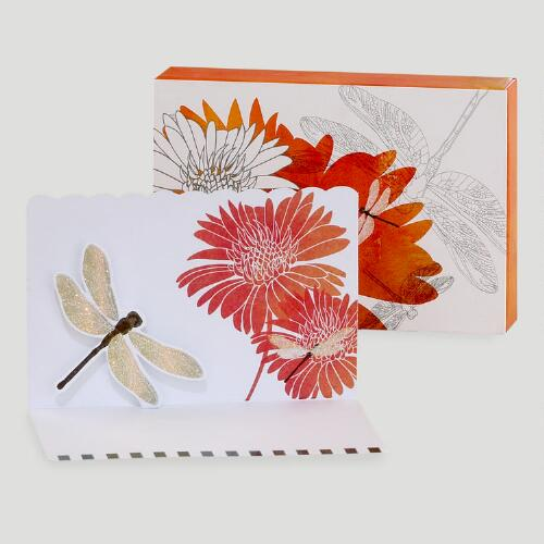 Dahlia Pop-Up Note Cards, Set of 8