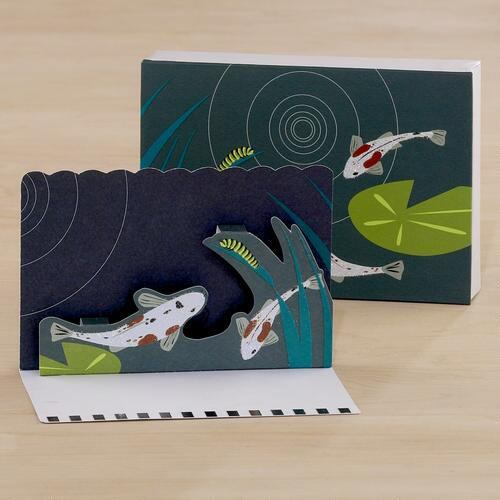 Koi Fish Pop-Up Note Cards, Set of 8