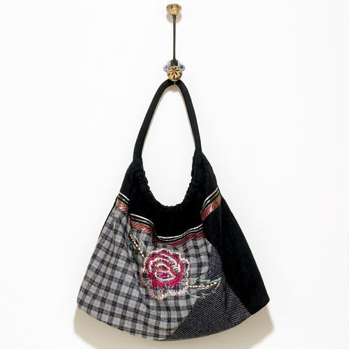 Plaid Flower Bag