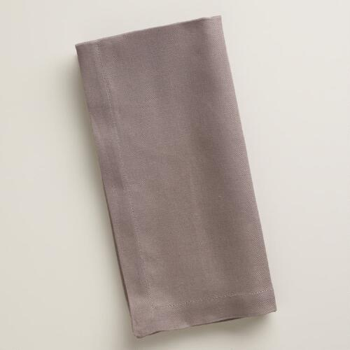 Gray Buffet Napkins, Set of 6