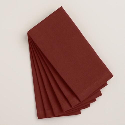 Chocolate Buffet Napkins, Set of 6