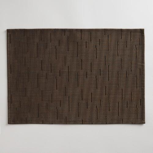 Brown Woven Placemat, Set of 4