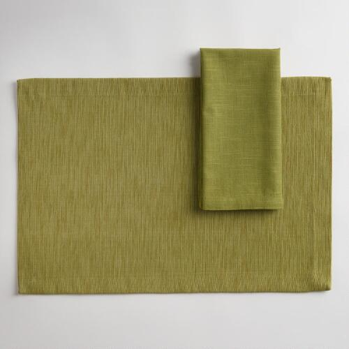 Fern Khadi Table Linens Collection