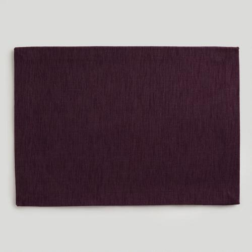 Plum Khadi Placemat, Set of 4