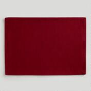 Red Khadi Placemat, Set of 4
