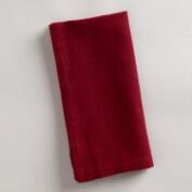 Red Khadi Napkins, Set of 4