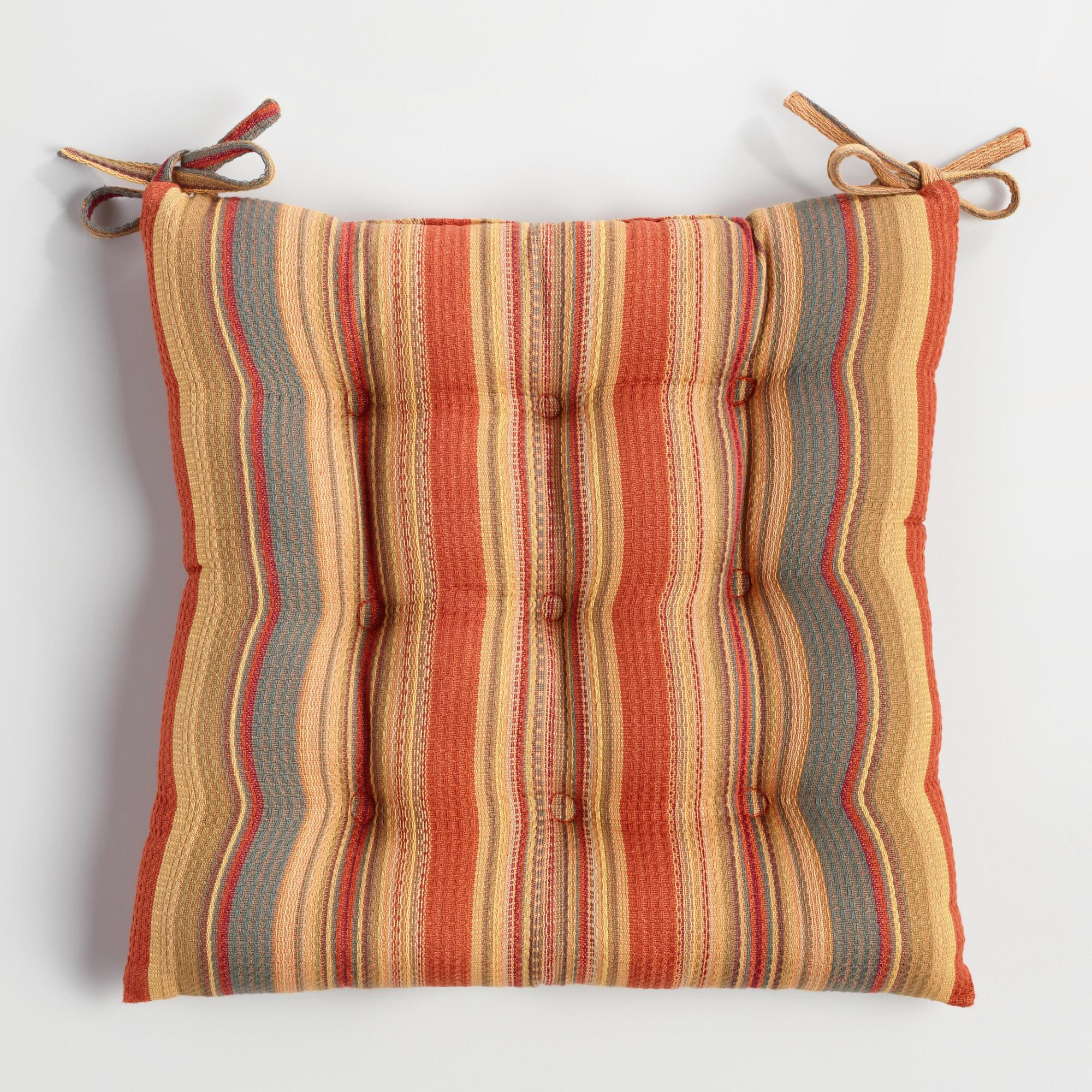 Canyon Stripe Chair Cushion  World Market
