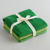 Green Flour Sack Kitchen Towels, Set of 3