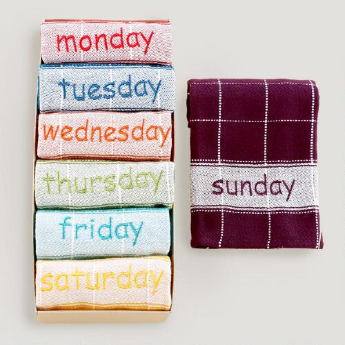 Monday to Sunday Dishcloth Set