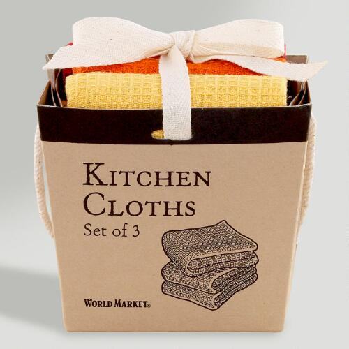 Warm Take Out Dishcloths Box