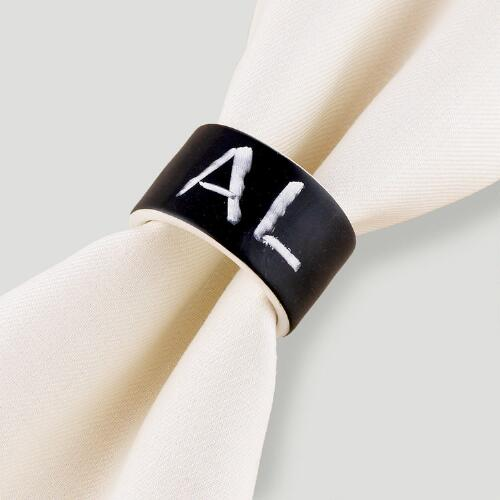 Chalk Talk Napkin Rings, Set of 4