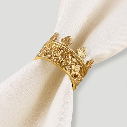 Crown Napkin Rings, Set of 4