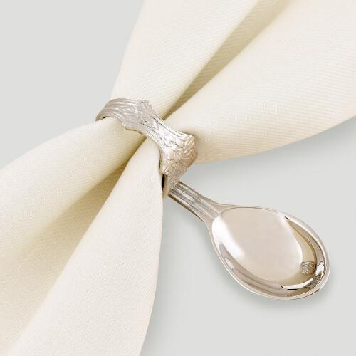 Spoon Napkin Rings, Set of 4
