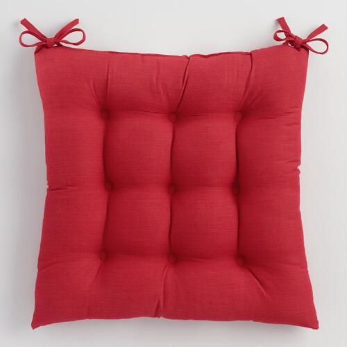 Red Khadi Chair Cushion