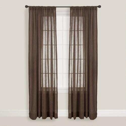 Chocolate Bloomfield Curtain