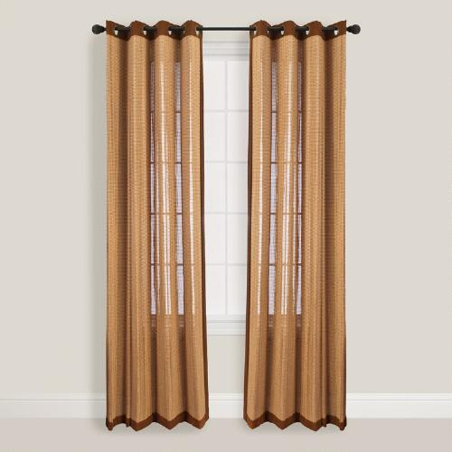 Oak Bamboo Curtains with Grommets